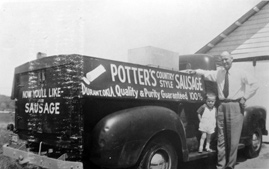 Historical Photo of J.C. Potter's transportation truck